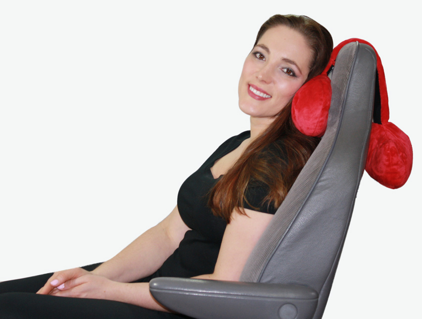 Adjustable Neck Pillow Hangs Over Your Seat For Firm Head
