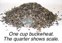 All-natural buckwheat hull filler