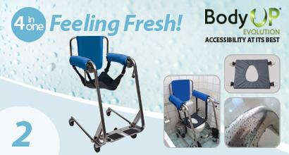 Αδιάβροχη καρέκλα μπάνιου και WC