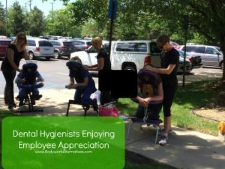 employee-appreciation-chair-massage-dental-hygienists-orchard-lake-michigan-detroit-troy-bloomfield-hills-livonia-birmingham-rochester