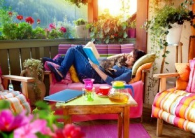 outdoor oasis ideas colorful patio stress management for working women