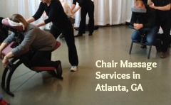 Atlanta chair massage corporate wellness massage at work employee appreciation customer appreciation