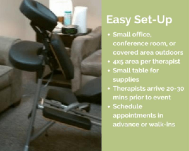 dallas corporate chair massage Dallas workplace