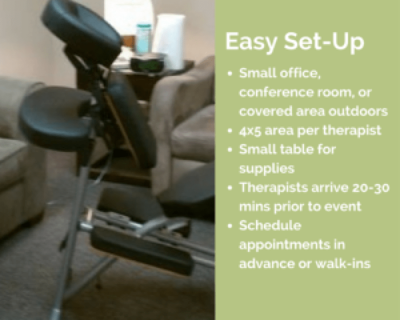 dallas corporate chair massage workplace