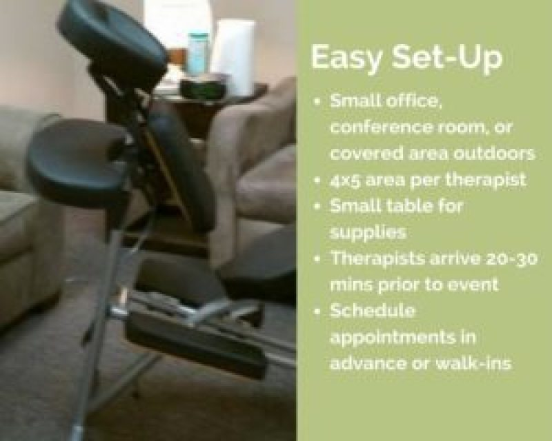 memphis corporate chair massage workplace