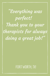 fort worth chair massage testimonial