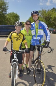 Jodie with her Husband Cody and son Clayton at Tour de Cure bike ride.