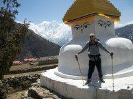 Marnix van Rossum bij stupa, eigen foto