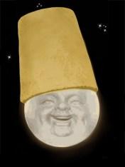 Maan met derwisjmuts.