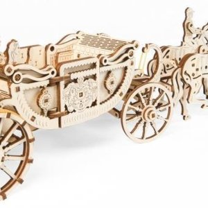 UGears modelbouw hout Limited Edition Brits koninklijke koets - Prins Harry en Meghan Markle