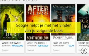 Google helpt je bij het vinden van je volgende boek