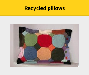 Recycled pillows