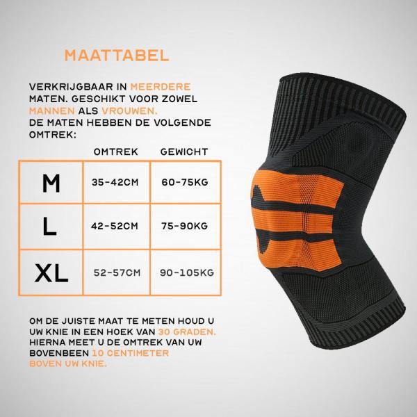 Boersport - Schokabsorberende kniebrace / Sportbescherming 1