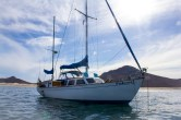 S/V Falcon. Cal 2-46 ketch from Salem, OR on the hook at playa Bonanza
