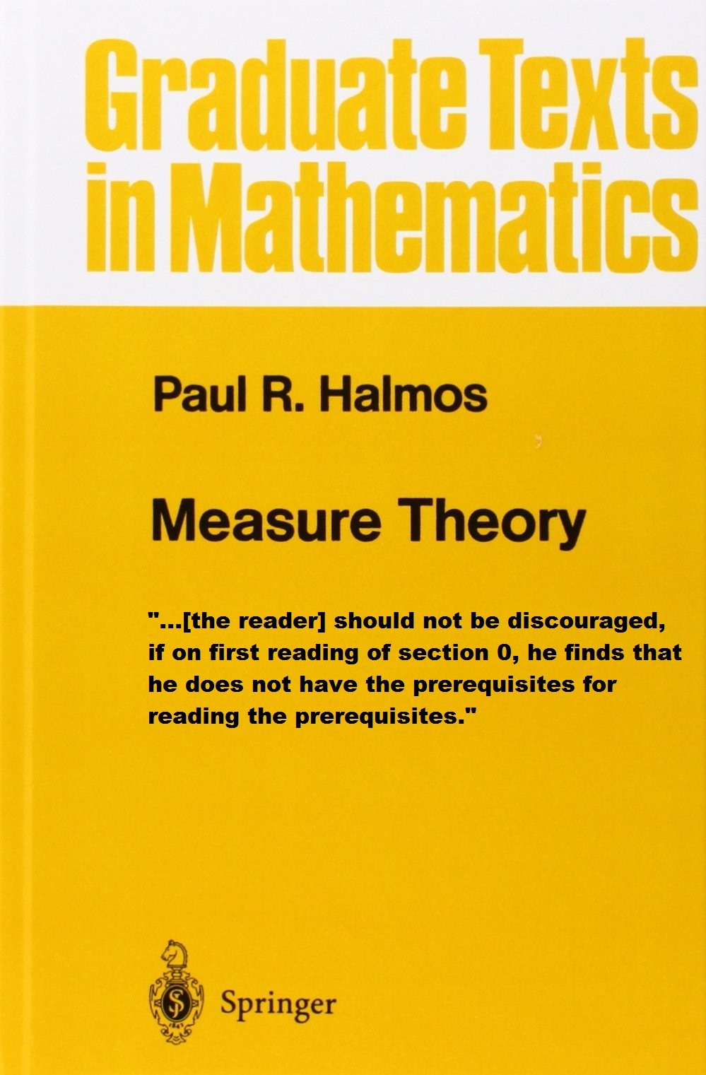 Paul Halmos on Prerequisites