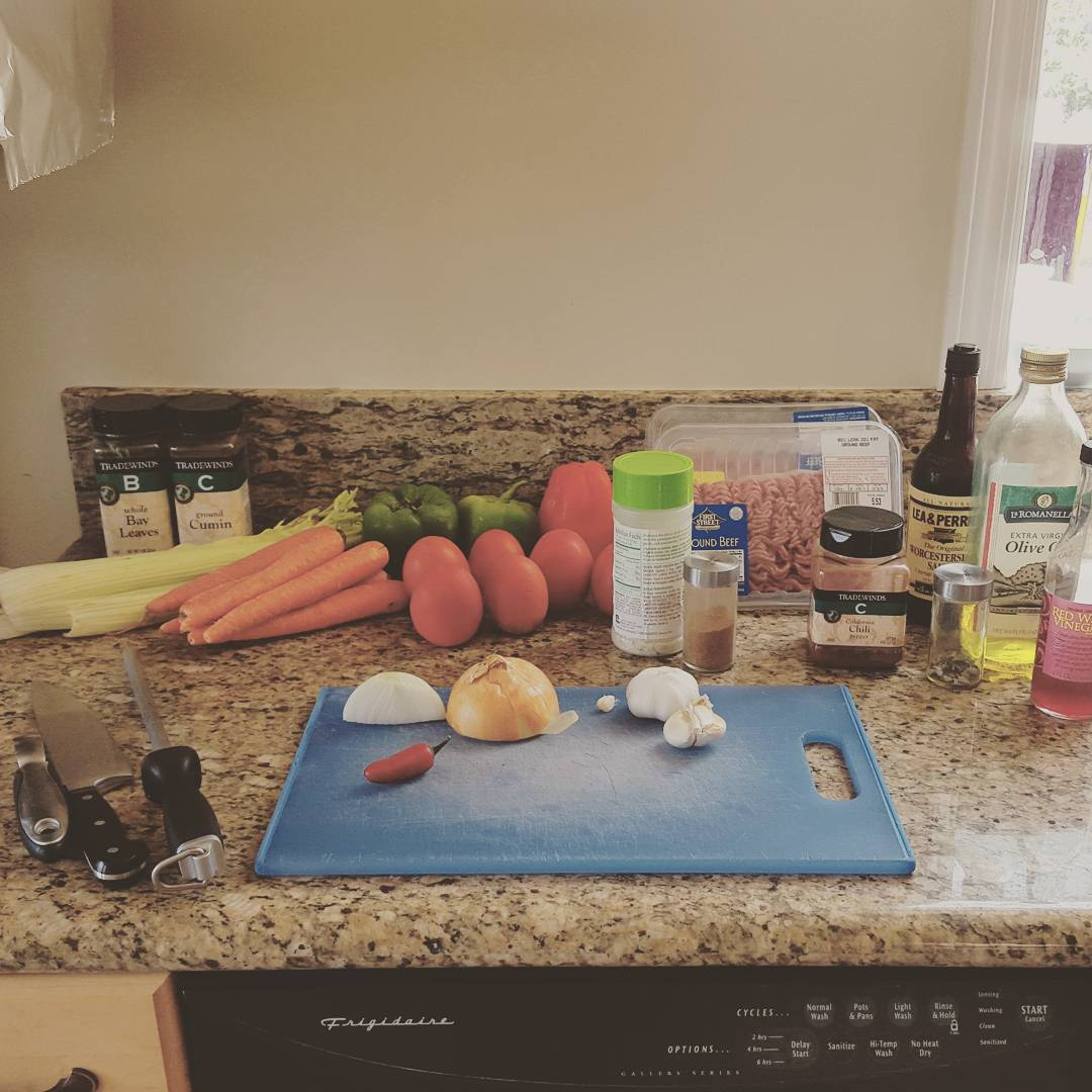 Prep for my famous chili