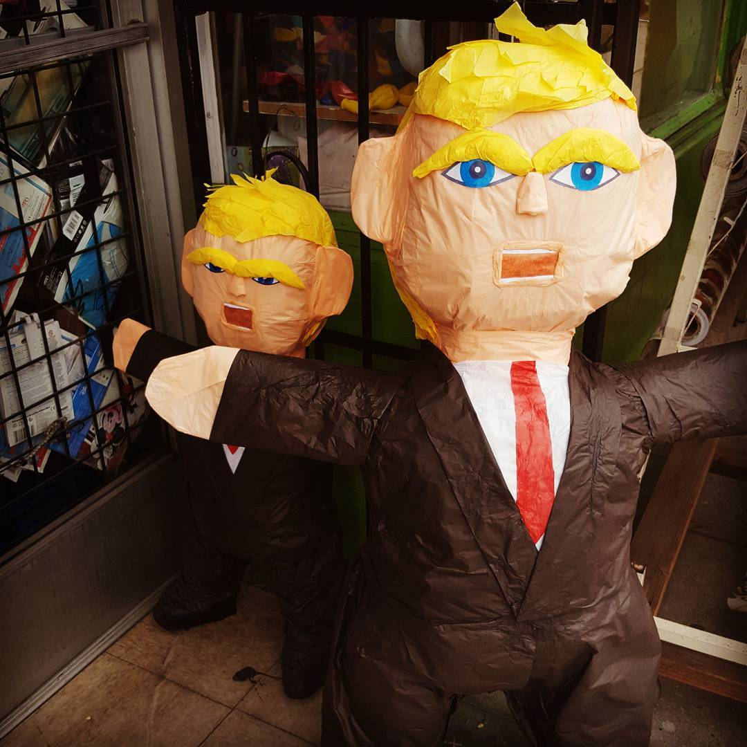 The proprietor at the local piñata place says these are empty. #BeatTrump