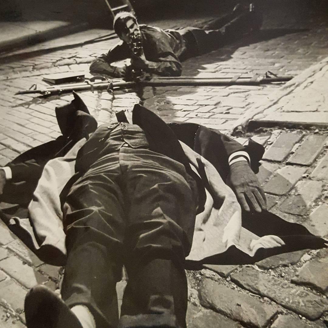 Caleb Deschanel shooting FRATRICIDE starring Richard Macksey