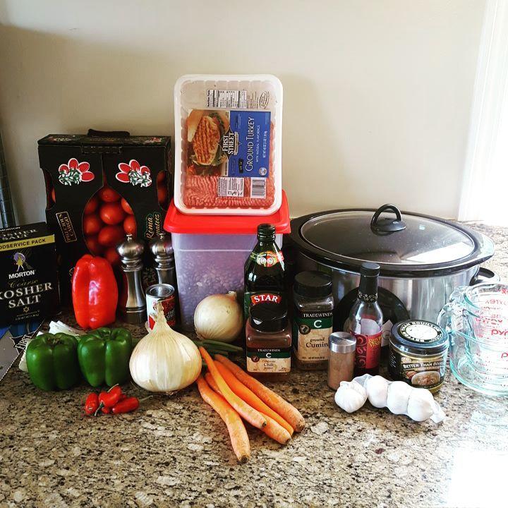 Chili prep for dinner tonight