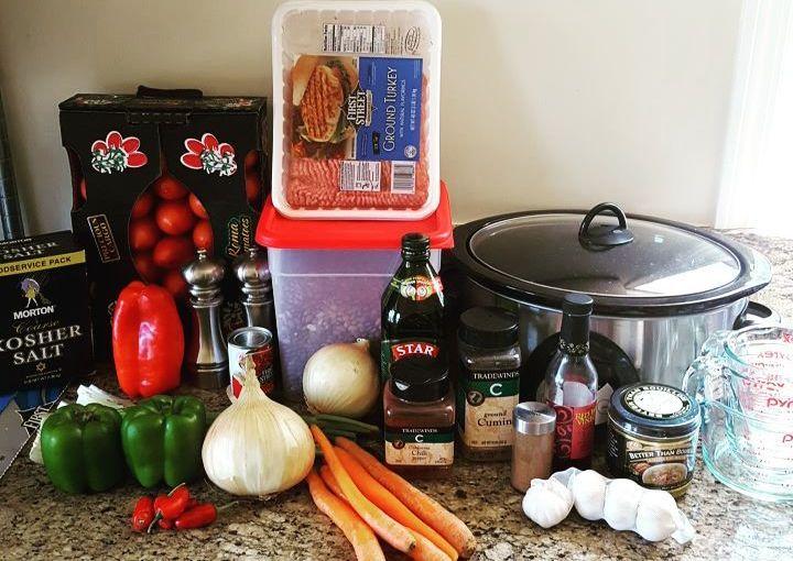 """<i class=""""fa fa-cutlery fa- """" ></i> Chili prep for dinner tonight"""