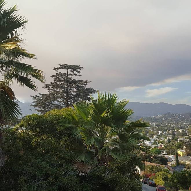 Santa Clarita brush fire is going to make a yellow sunset tonight