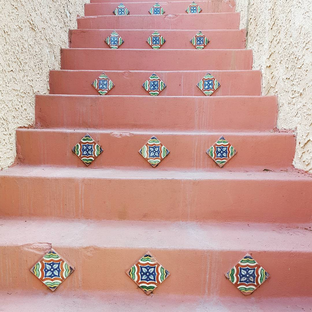 Spanish tile on stairs