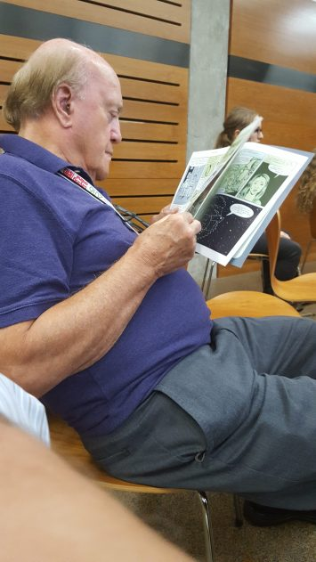 What does Peter Arnett, the most daring journalist of the past century, do to unwind? He reads comic books of course.