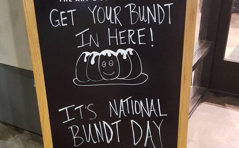 Get your Bundt in here