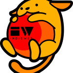 WordPress' cartoon character Wapuu holding a ball with the IndieWebCamp logo