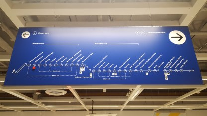 The store map with shortcuts for the massive ~450,000 square foot store.