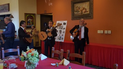 A great way to make an entrance to a room: with Mariachis!