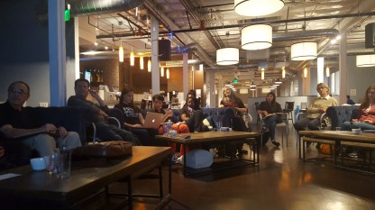 The other part of the crowd at the Pasadena WordPress Meetup