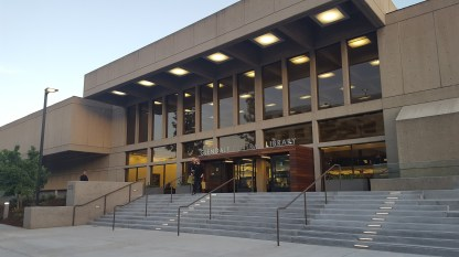 Exterior of the refurbished library