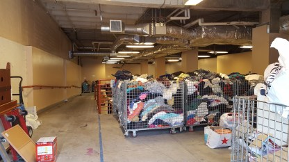 Goodwill donation center (interior)