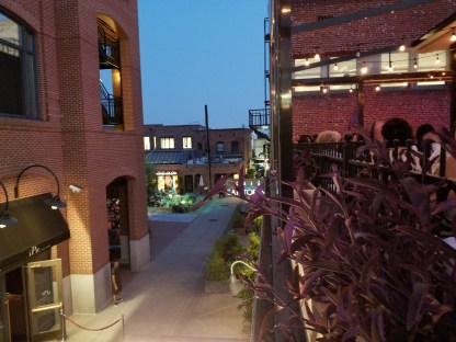 The view down the alley from the patio