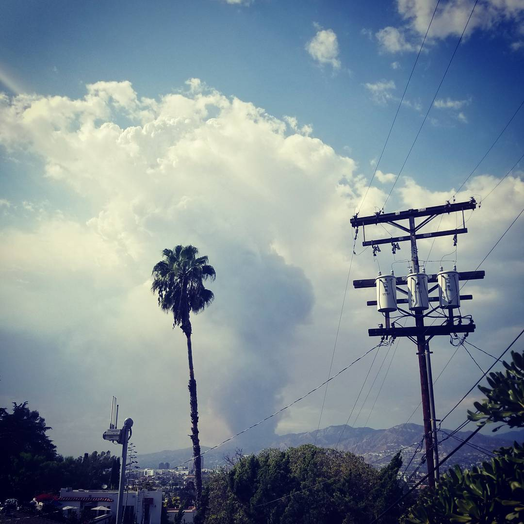 The fire North of Glendale viewed from Adams Hill