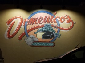 There's a great mural painted on the East side of Domenico's