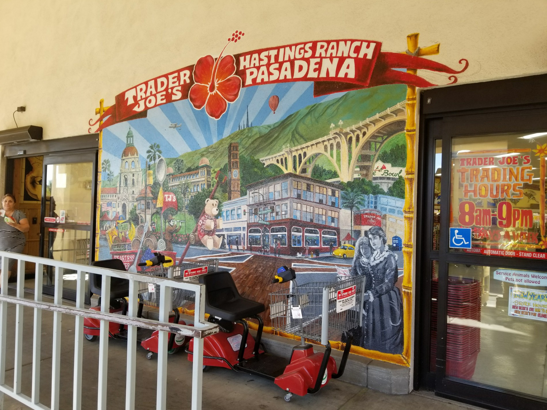 The Pasadena Mural at the Hastings Ranch Trader Joe's