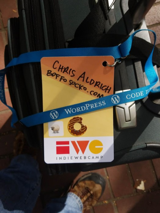 I finally take my name tag off as I depart the conference on the way back home to Los Angeles. Thanks everyone!
