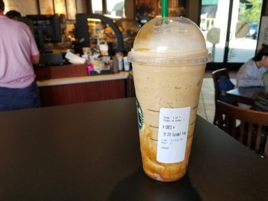 "Trying out the new ""Ultimate"" Caramel Frappuchino"