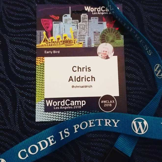My WordCamp Los Angeles 2018 badge