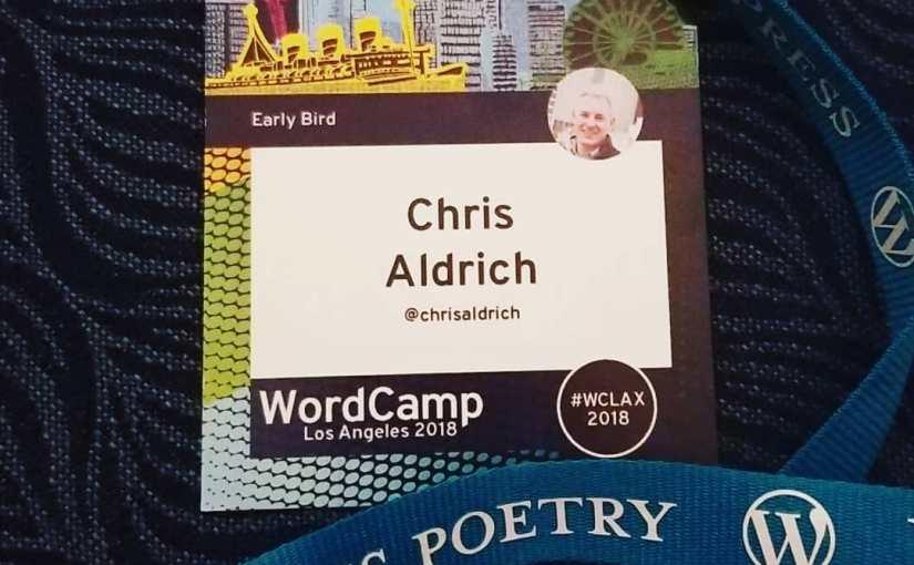 My WordCamp Los Angeles 2018 badge