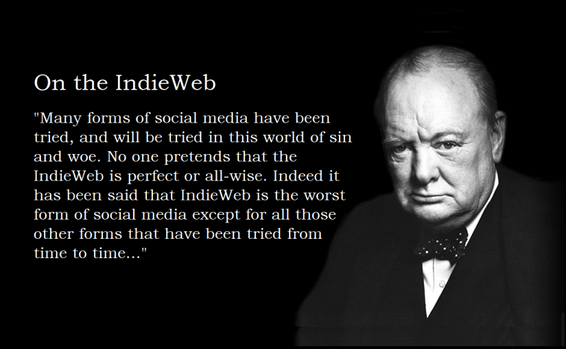 Photo of Winston Churchill with the quote superimposed