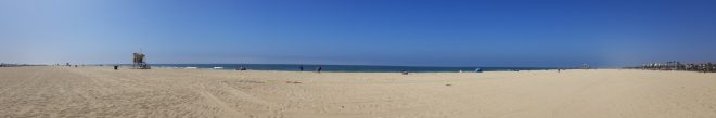 Panoramic shot of the beach