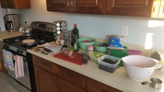 mise en place for tortillas