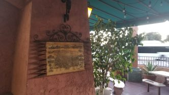 Wall decoration in the outdoor patio at Burrito Express