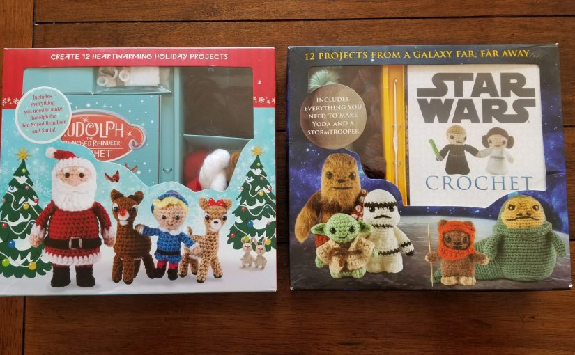 Star Wars and Rudolph the Red Nosed Reindeer crochet sets