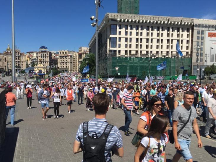 Во Всеукраинском шествии в защиту семейных ценностей участвовали 10 тысяч человек