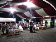 Sekot Kotamobagu saat membacakan sambutan Wali Kota Kotamobagu pada acara persemian Kawasan Pasar Kuliner Kota Kotamobagu.