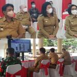 Bupati dan Jajaran Pejabat Bolmong, Mengikuti Vidcon Bersama Presiden